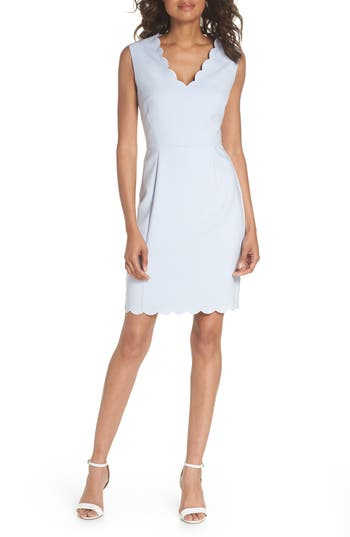 French Connection Whisper Ruth Sheath Dress, Blue