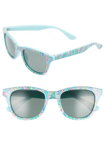 Lilly Pulitzer Maddie 52Mm Polarized Mirrored Sunglasses - Catch The Wave/ Green