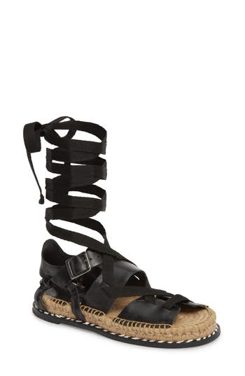 Matisse Tabby Gladiator Sandal, Black