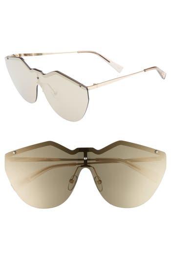 Le Specs 140Mm Shield Sunglasses - Gold