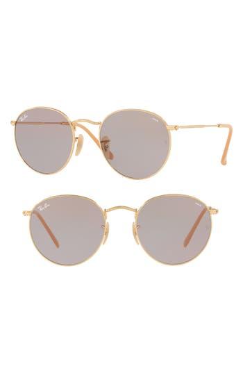 Ray-Ban 5m Evolve Photochromic Round Sunglasses - Grey