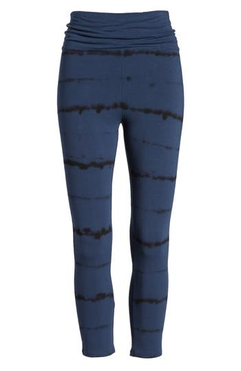 Nordstrom High Waist Crop Leggings, Blue