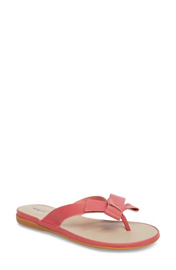 T Tahari Aria Flip Flop- Red