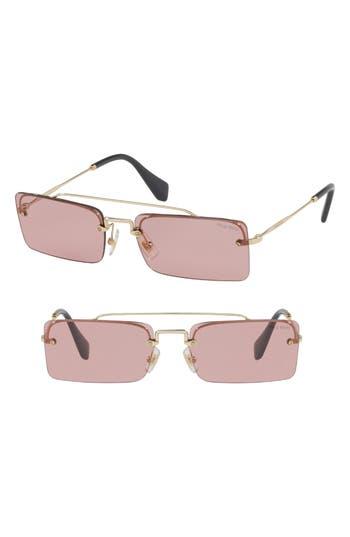 Miu Miu Socit 5m Square Sunglasses - Gold/ Violet Solid