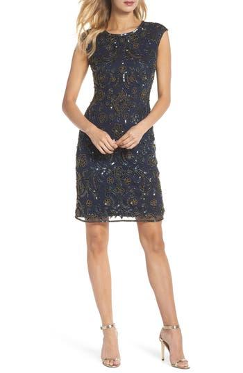 Pisarro Nights Sequin Sheath Dress, Blue