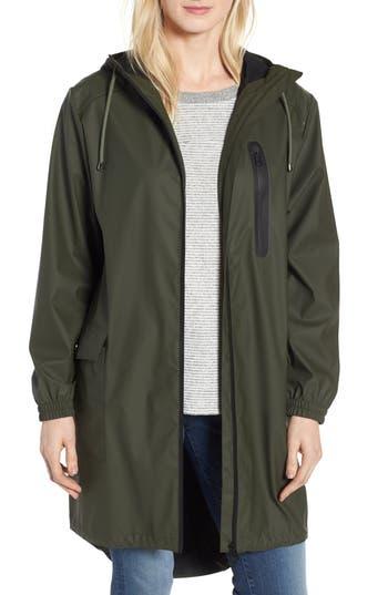Kristen Blake Hooded Rain Topper Jacket, Green