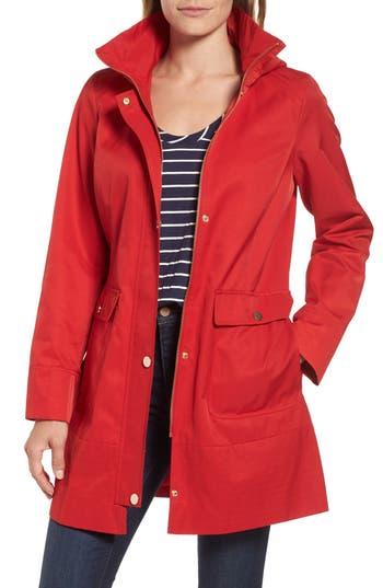 Kristen Blake Hooded Rain Jacket, Red