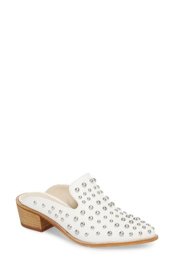 Chinese Laundry Mollie Studded Loafer Mule, White
