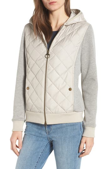 Barbour Brimham Hybrid Jacket, US / 10 UK - Ivory