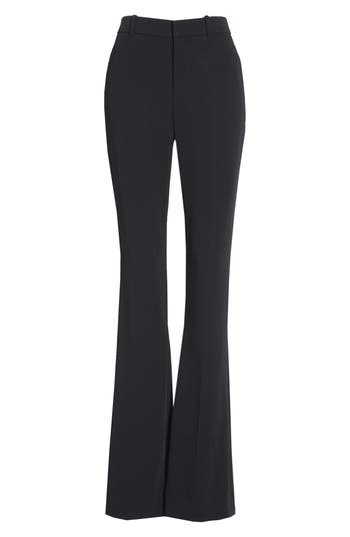 Gucci Stretch Cady Skinny Flare Pants, 8 IT - Black