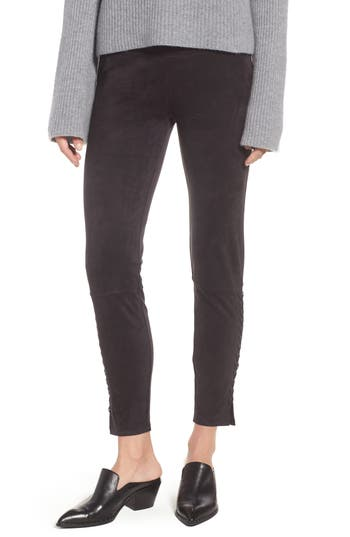 Lysse Mission Faux Suede Leggings, Black