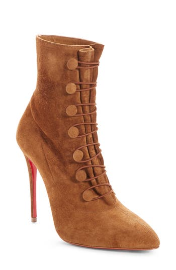 Christian Louboutin French Tutu Pointy Toe Bootie, Brown