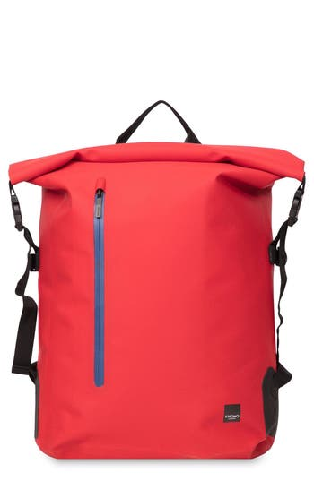 Knomo London Thames Cromwell Roll Top Backpack - Red