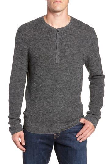 Big & Tall Nordstrom Shop Merino Wool Blend Henley, Grey