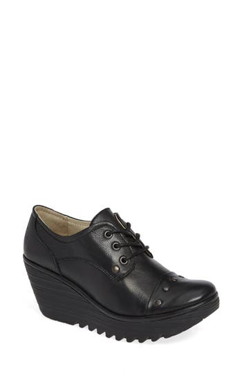 Fly London Yoti Lace-Up Wedge