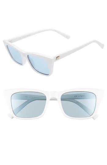 Le Specs I Feel Love 51Mm Cat Eye Sunglasses - Optic White