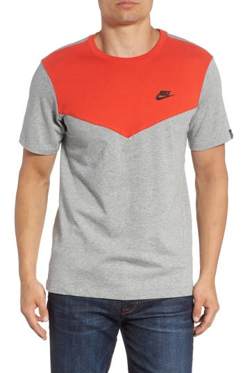 Nike Windrunner Colorblocked T-Shirt, Red