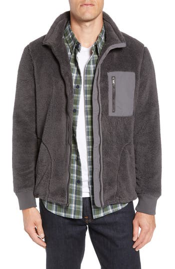 Ugg Lucas High Pile Fleece Sweater Jacket, Black