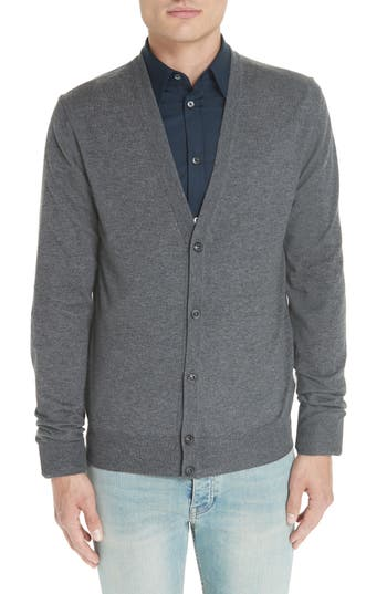 Maison Margiela Wool & Cotton Cardigan, Grey