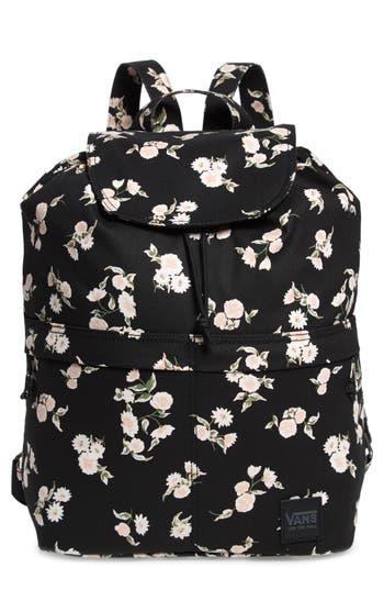 Vans Lakeside Floral Print Backpack - Black