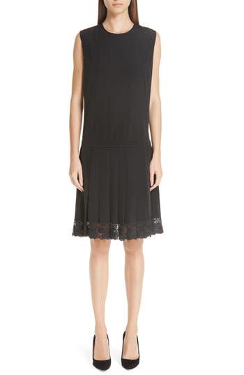 Marc Jacobs Lace Hem Silk Dress, Black