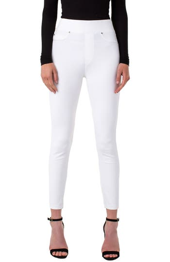 Liverpool Pull-On Knit Leggings, Ivory
