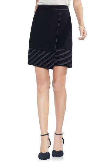 Vince Camuto Faux Wrap Skirt, Black