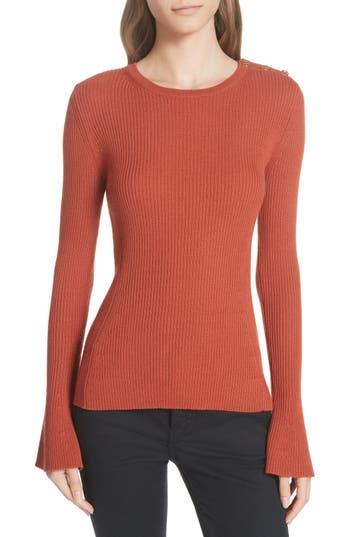 Tory Burch Liv Merino Wool Sweater, Orange