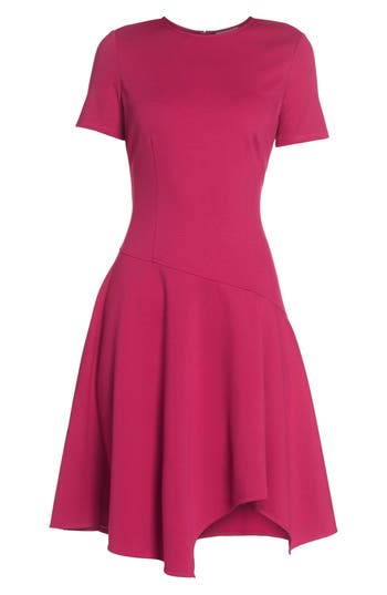Eliza J Drop Waist Fit & Flare Dress, Pink