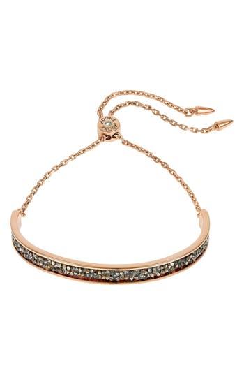 ADORÉE Ultrafine Rock Crystal Bar Bracelet, Rose Gold