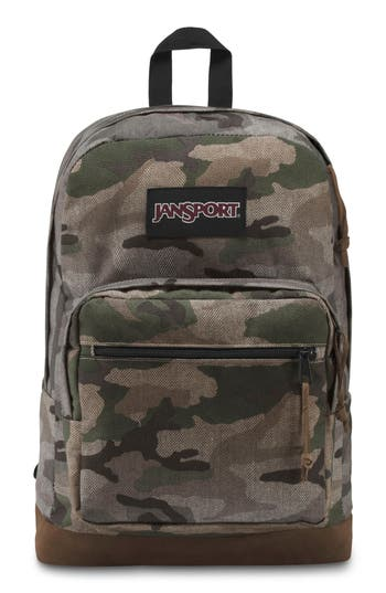JANSPORT RIGHT PACK EXPRESSIONS BACKPACK - GREEN, CAMO OMBRE