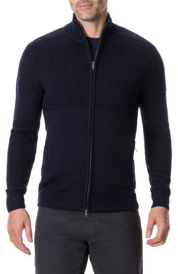 Rodd & Gunn Kina Beach Merino Wool Zip Sweater, Blue