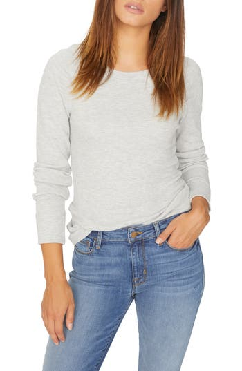 Kenzie Thermal Pullover, Heather Sterling