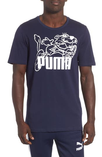 Puma Retro Sports T-Shirt, Blue