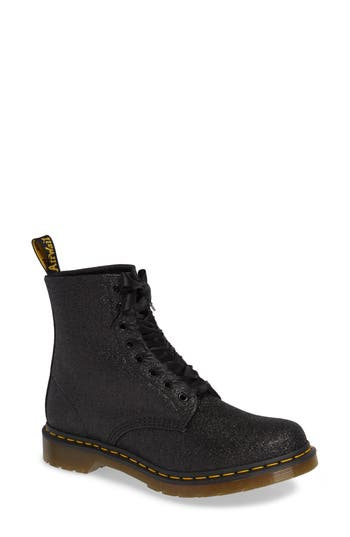 Dr. Martens 1460 Pascal Glitter Boot, Black