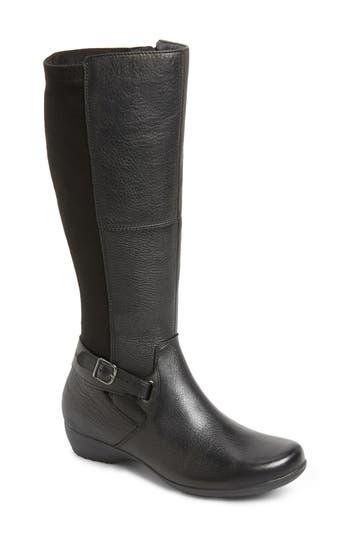 Dansko Francesca Knee High Riding Boot-6- Black