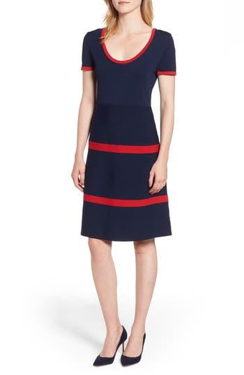 1960s Dresses | 60s Dresses Mod, Mini, Jakie O, Hippie Womens Anne Klein Colorblock Fit  Flare Sweater Dress $129.00 AT vintagedancer.com