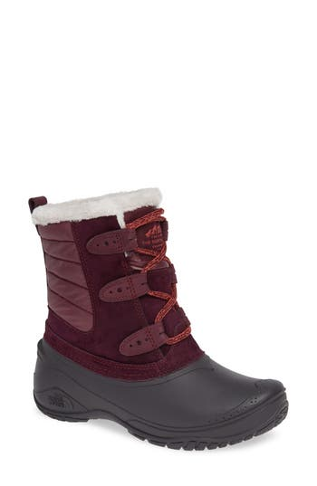 The North Face Shellista Ii Waterproof Boot, Burgundy