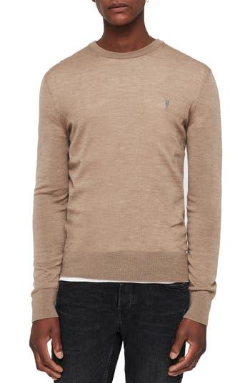 Allsaints Mode Slim Fit Merino Wool Sweater, Brown