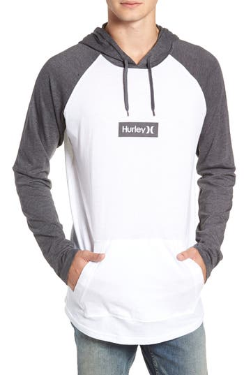 Hurley Premium One And Only Box Logo Pullover Hoodie, White