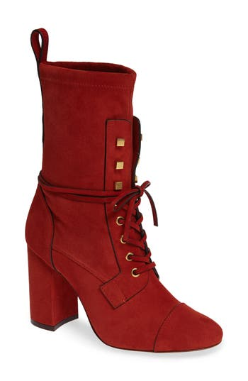 Stuart Weitzman Veruka Lace-Up Boot, Brown
