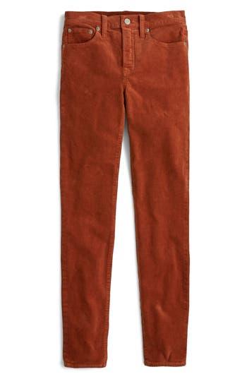 High Rise Toothpick Corduroy Jeans, Deep Redwood