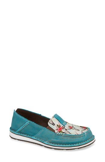 Cruiser Slip-On Loafer, Shunner Turquoise Leather