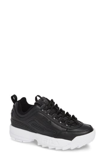 Disruptor Ii Premium Sneaker, Black/ White/ White