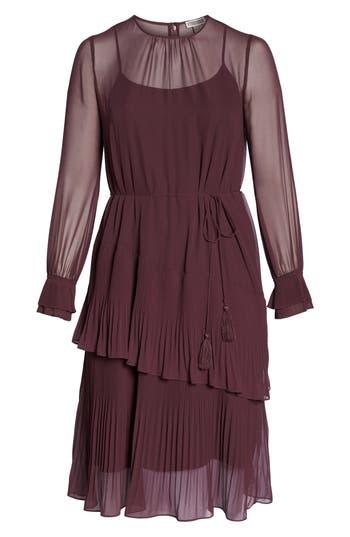 1920s Plus Size Flapper Dresses, Gatsby Dresses, Flapper Costumes Womens Chelsea28 Pleat Detail Midi Dress $149.00 AT vintagedancer.com