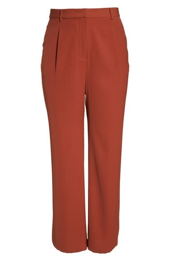 Plus Size Leith High Waist Flare Pants, Brown