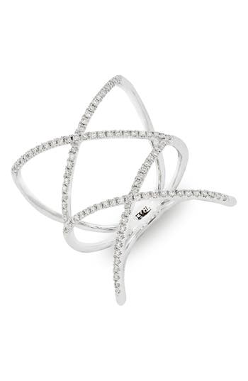 Women's Bony Levy Diamond Double Crisscross Ring (Nordstrom Exclusive)