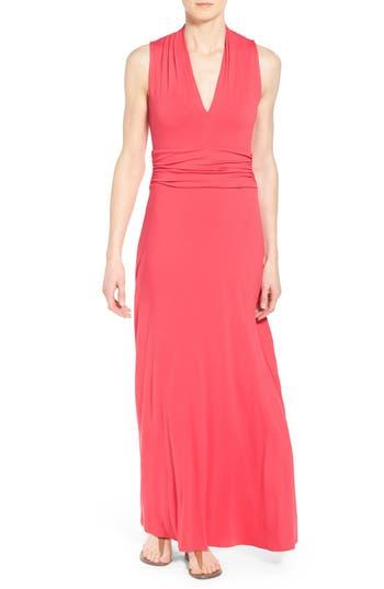 Petite Women's Vince Camuto V-Neck Maxi Dress
