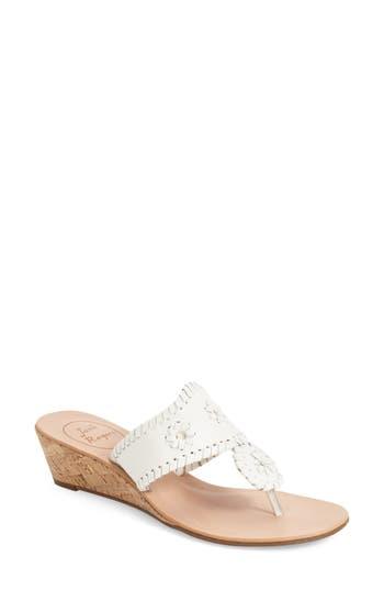Women's Jack Rogers 'Jacks' Wedge Sandal, Size 6 M - White