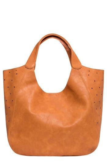 Urban Originals 'Masterpiece' Perforated Vegan Leather Tote - Brown
